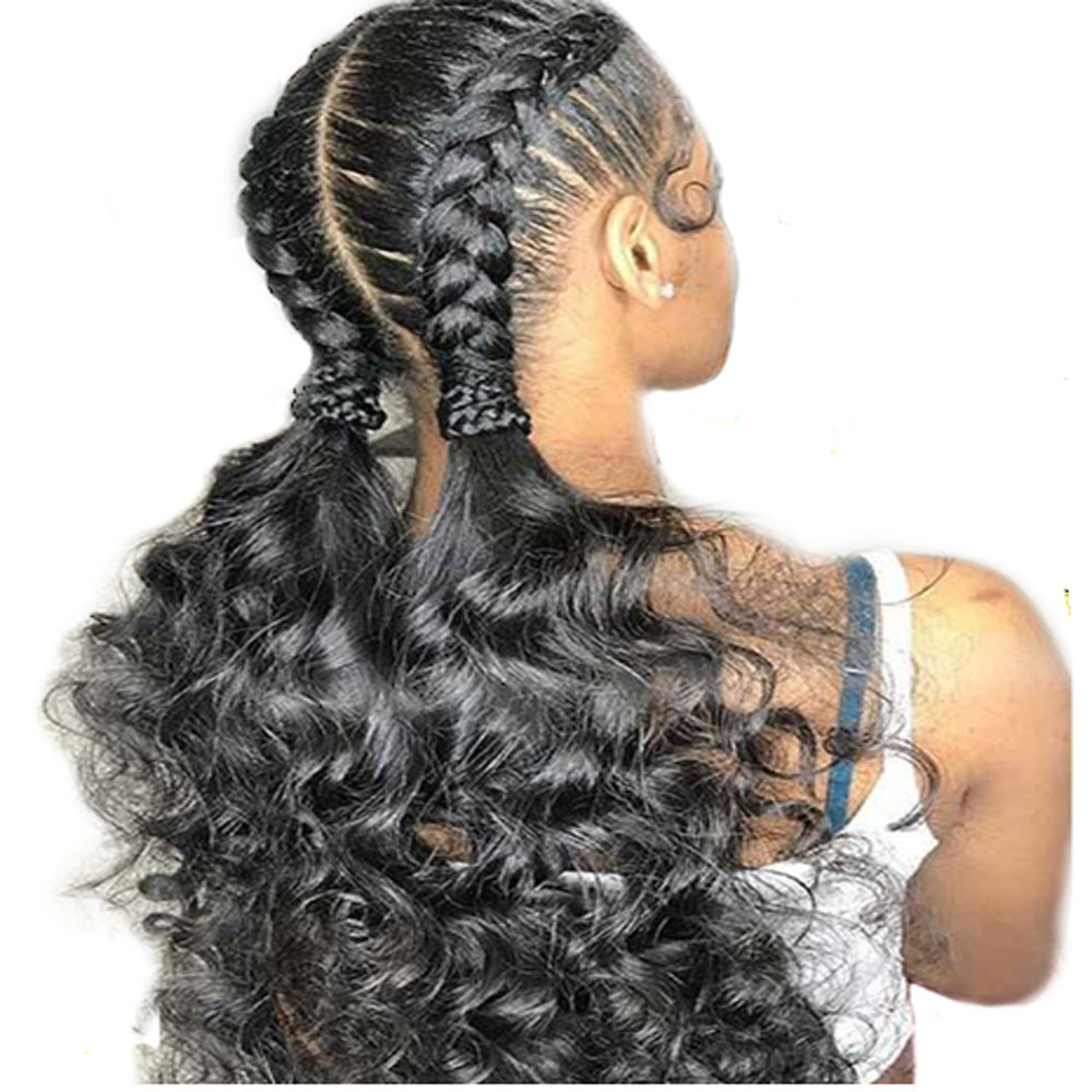 Natural Colored 180 Density Pre Plucked 13×4 Lace Human Hair Wigs With Baby Hair Transparent Lace Wigs Brazilian Loose Wave Wig