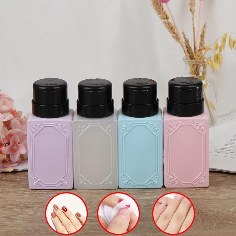 210ml Top Quality Empty Pump Dispenser Nail Polish Remover Bottle Liquid UV Gel Polish Nail Art Polish Clean Acetone Bottle