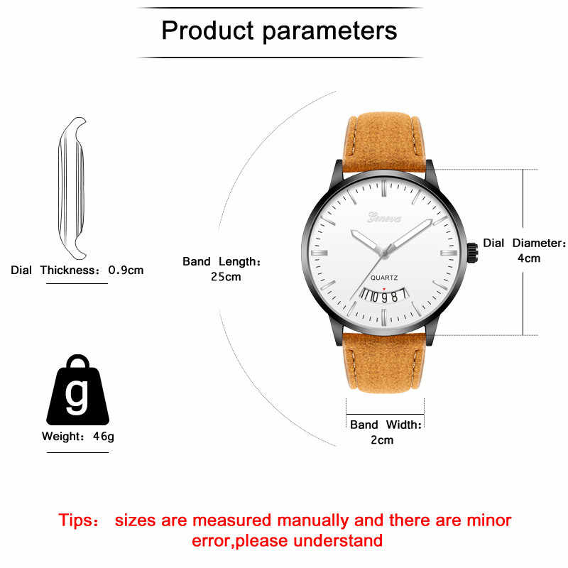 WJ-8775 lüks takvim erkekler saatler erkek spor kuvars saat adam deri askeri saatler Relogio Masculino zegarek damski