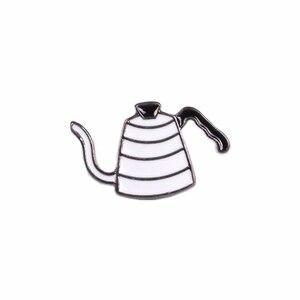 Uwielbiam kawę! Wytłaczany ręcznie Pot AeroPress Chemex filtr miska kawa emaliowane szpilki worek na koszulę kapelusz dekoracja miłośnicy kawy prezent