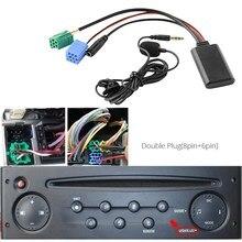 Voiture Bluetooth 5.0 Aux câble Microphone mains libres téléphone portable adaptateur d'appel gratuit pour Renault 2005-2011