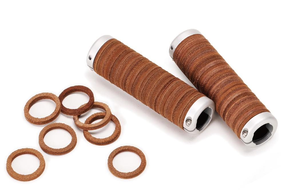 Taiwan Gyes Cow Leather Retro Road Bike 125MM Bicycle Handlebar Grips Honey Colors Bicycle Grips