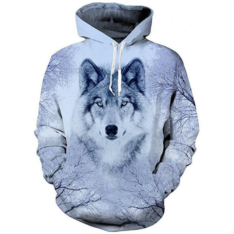 3D Wolf Hoodies Men Hooded Coats Animal Printed Hoodie Sweatshirts Tracksuits Man/women Jackets Funny Hoody S-4XL DropShipping