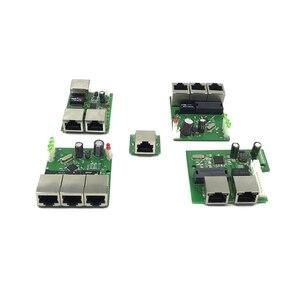 OEM прямые поставки с фабрики, мини Быстрая Мини-Плата 10 / 100 Мбит/с, 3 порта Ethernet, сетевой концентратор lan, двухслойная плата pcb 3 rj45 5 в 12 В головно...