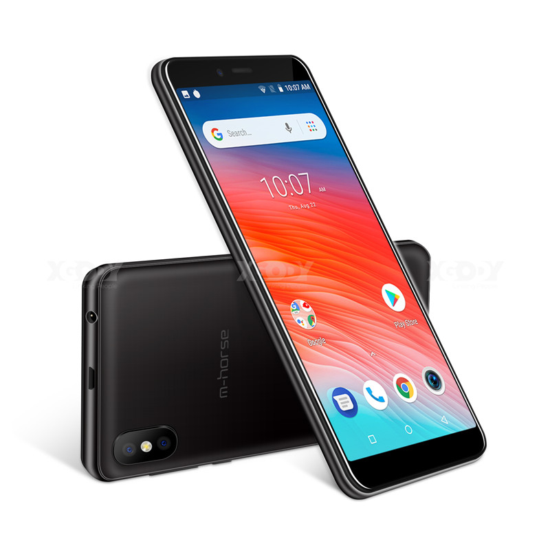 "M-HORSE M2S Smartphone Quad Core Android 8.1 2800mAh Cellphone 1GB+16GB 5.45"" 18:9 Screen 8.0MP Dual Camera WiFi 3G Mobile Phone"