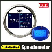 GPS Speedometer Boat Trip-Counter Digital Backlight with Lcd-Display 85m Adjustable Mileage