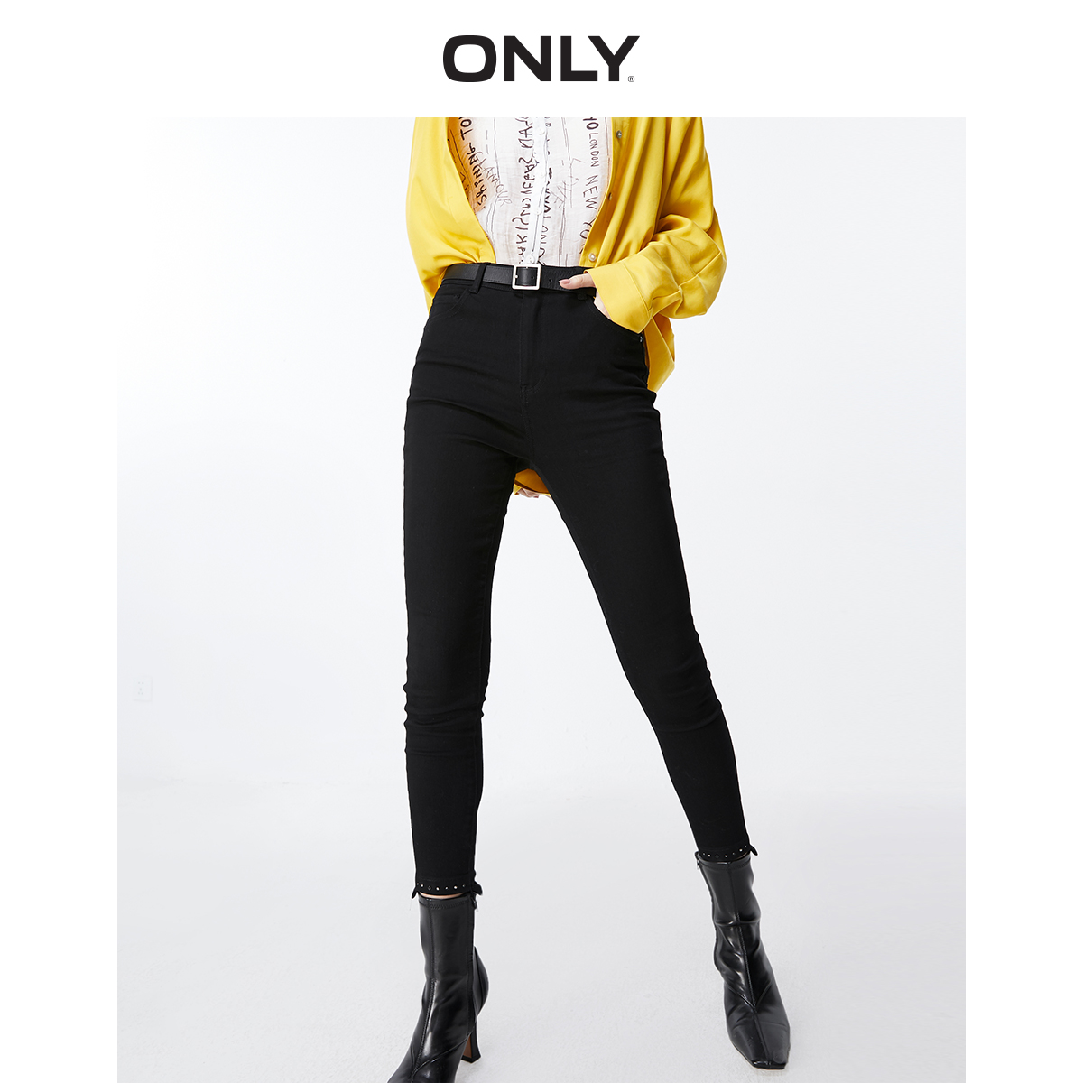 ONLY Women's Women's High-rise Skinny Crop Jeans | 119349601