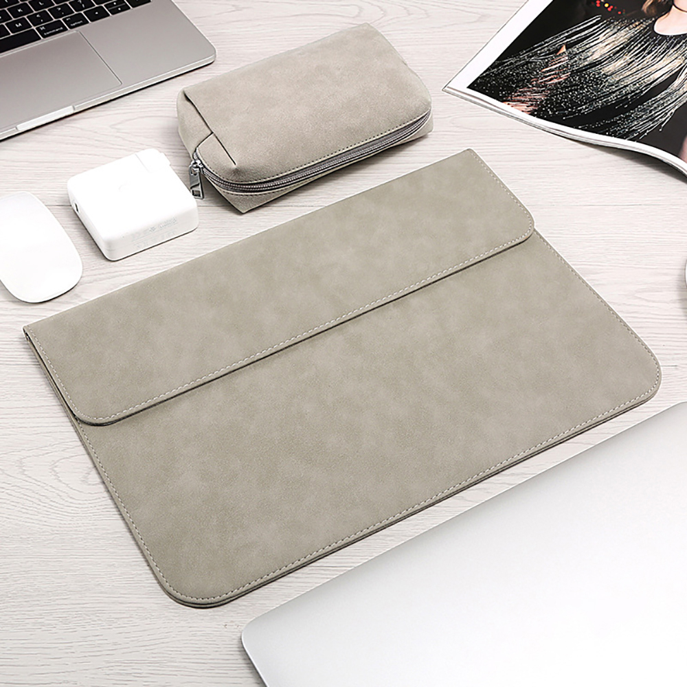 Image 2 - Matte Soft Laptop Sleeve Bags Case For Apple Macbook Air 13 11 Retina 15 13 12 inch,cover for 2019 new Pro 16 With power packLaptop Bags & Cases   -
