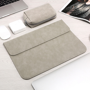 Image 2 - Matte Soft Laptop Sleeve Bags Case For Apple Macbook Air 13 11 Retina 15 13 12 inch,cover for 2019 new Pro 16 With power pack