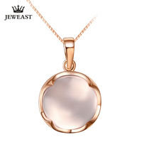 Natural hibiscus stone 18K Pure Gold Pendant Real AU 750 Solid Gold Upscale Trendy Classic Party Fine Jewelry Hot Sell New 2019