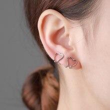 1 par de punk ouro metal amor orelha cuff clip para as mulheres sem forma perfurada geométrica pequeno earcuff orelha envoltório earcuff clipes jóias