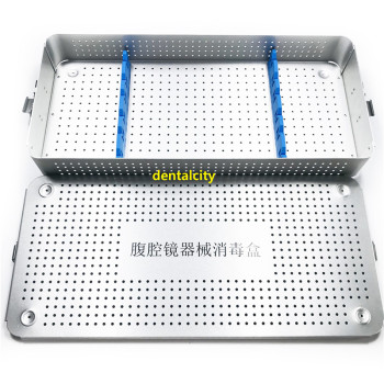 1set  Single tray Laparoscope disinfection box Aluminium Alloy sterilization tray case sterilising trays