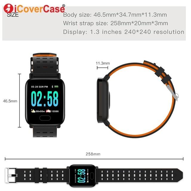 Para Huawei Honor 20 pro 10 9 8 lite 9X 8x max 7x V20 Nova 4 3 2 Plus pulsera impermeable para ejercicio de presión arterial