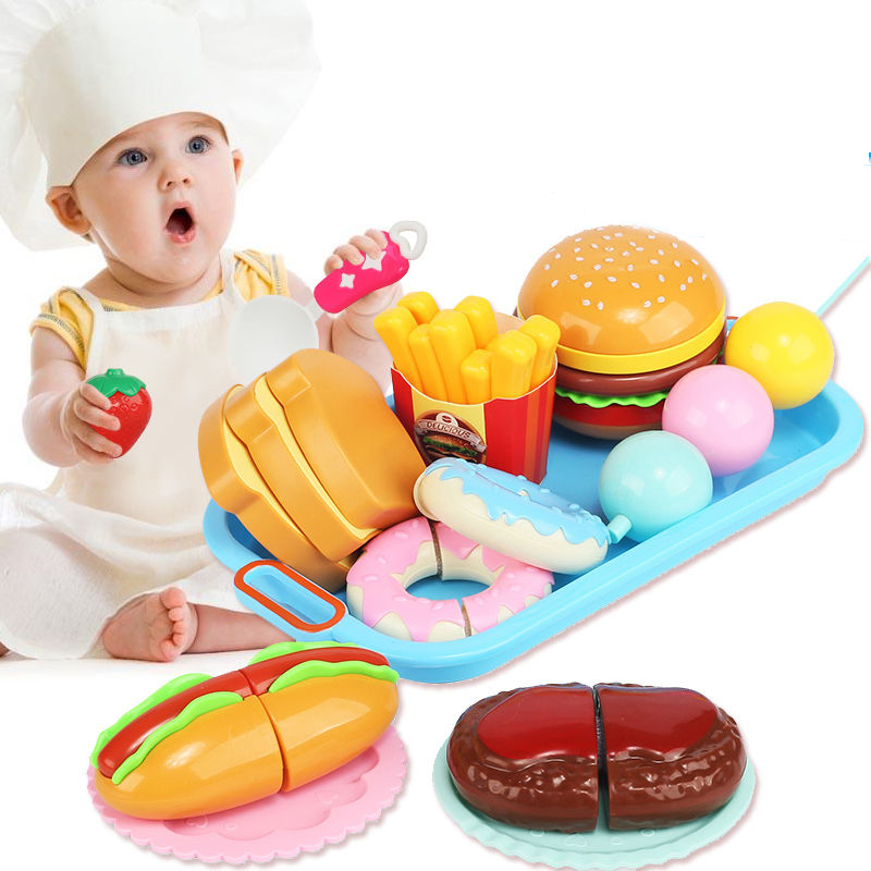 7 Style Children Kitchen Toys Cutting Fruit Vegetable Plastic Drink Food Kit Kat Pretend Play Early Education Toy For Kids Gifts