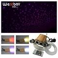 32W Rgb Led Glasvezel Lichte Motor Glasvezel Ster Plafond Licht Kit 200 Pcs * 0.75 Mm 200pcs * 1.0 Mm Sterrenhemel Kerst