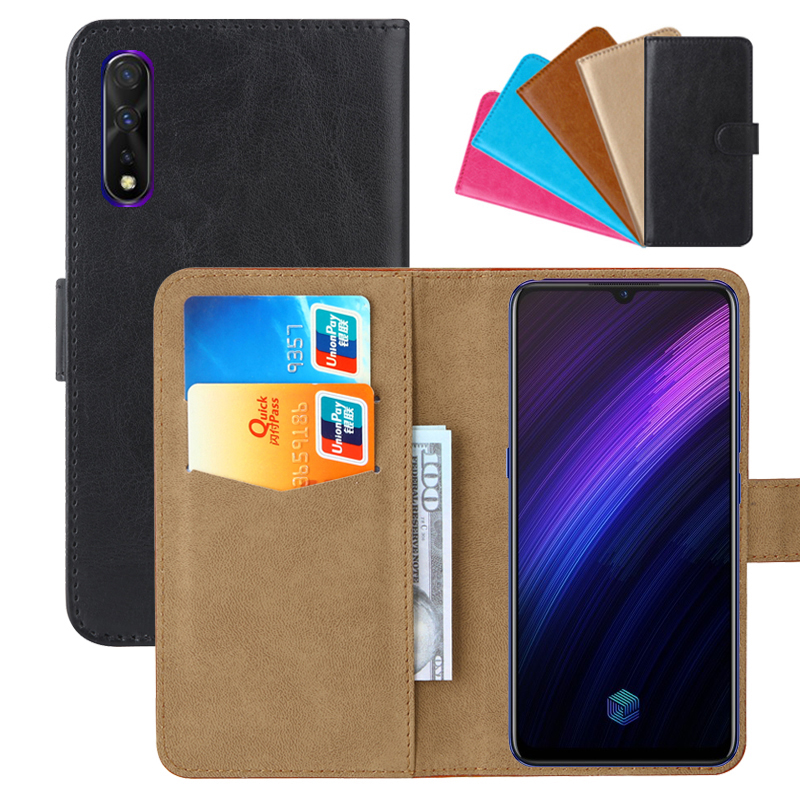 Luxury Wallet Case For Vivo Iqoo Neo 855 PU Leather Retro Flip Cover Magnetic Fashion Cases Strap
