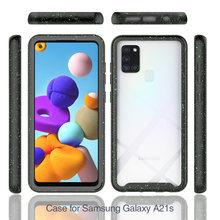 Para samsung galaxy a21s 6.5 polegada caso híbrido armadura tpu caso para samsung a21s capa para galaxy a21s caso de telefone a21s capa
