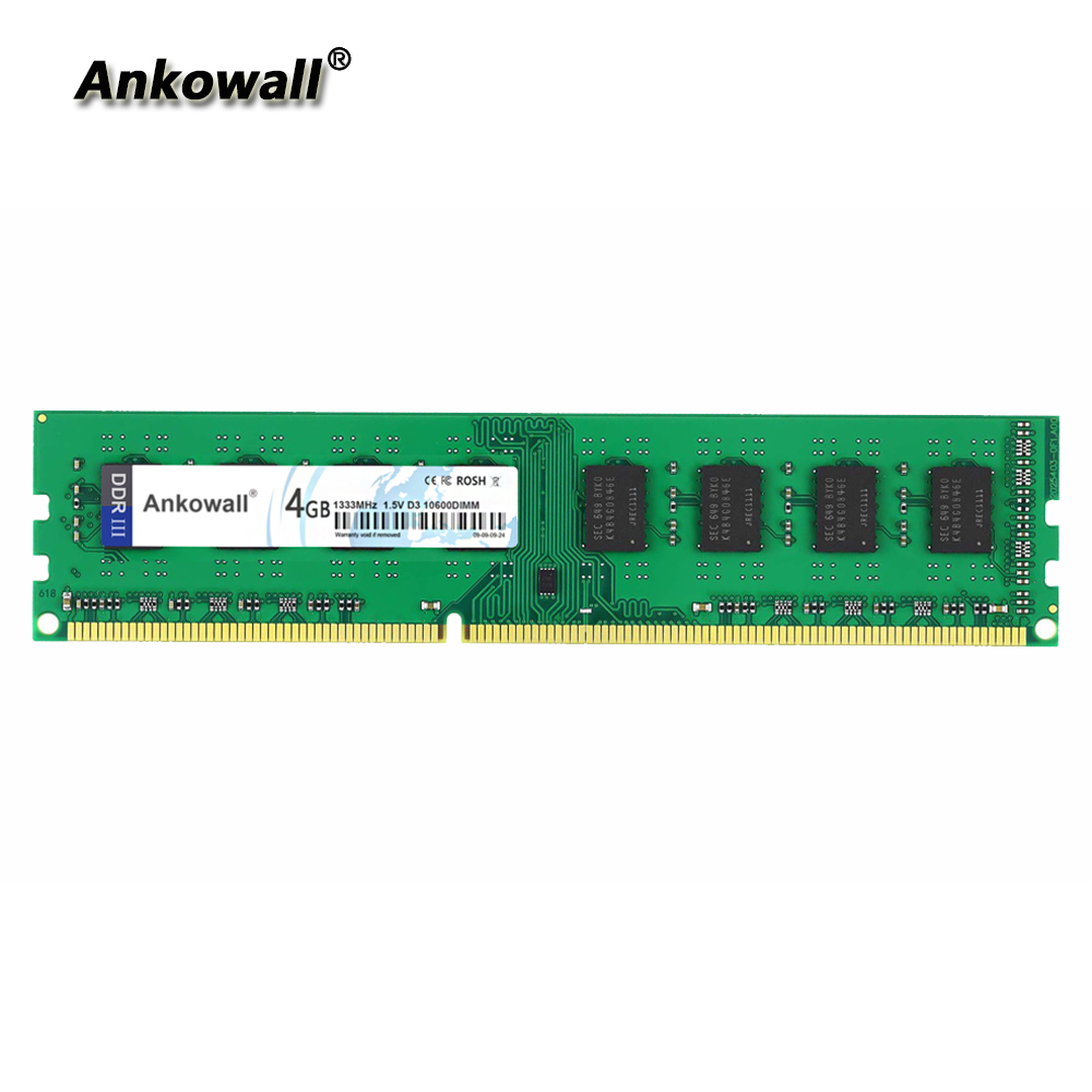 Ankowall RAM DDR3 4GB 8GB 1333 MHz 1600MHz 1866MHz Desktop Memory 240pin 1.5V sell 2GB/8GB New DIMM image