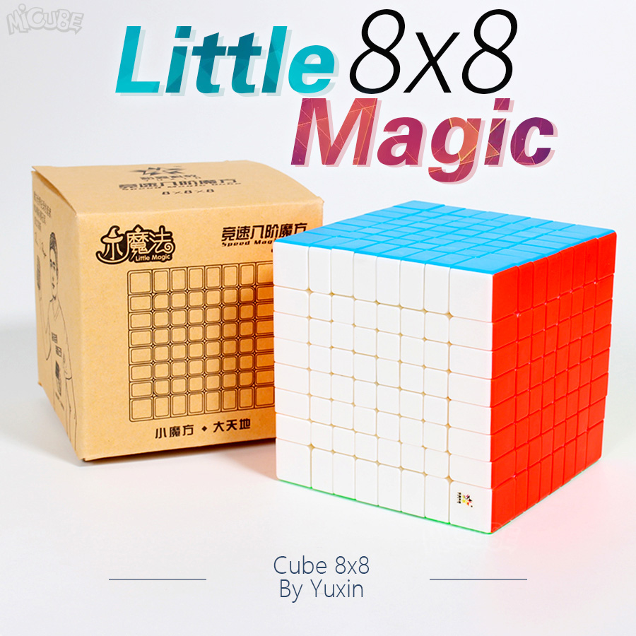 Puzzle Cube 8x8x8 Yuxin Little Magic Speed Cube 8x8 Forsted Surface Stickerless Neo Cubo Magico Education Rubic Game Cube Toy