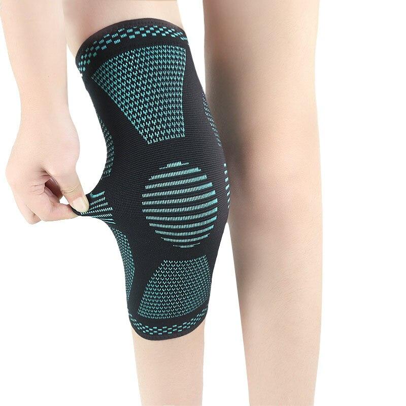 Knitting Kneepad Breathable Knee Support Sports Womens Mens Knee Sleeve Running Basketball Mountain Climbing Leg Running Sleeve
