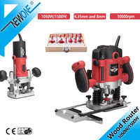 1500W 1/4in Woodworking Electric Router Trimmer Power Tool With Wood Milling Engraving Slotting 6.35mm Collet Carving Machine