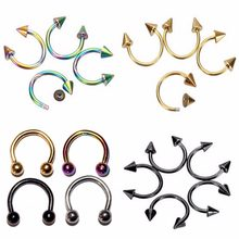 Neus Ring 1 Pc Nep Piercing Fashion Rvs 8 Mm Ronde Nep Neusring Septum Labret Wenkbrauw Stud Body piercing Sieraden(China)