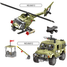 XINGBAO 06012/06013 Military Army Seires Assault Helicopter Jeep Missle Vehicle Building Blocks Educational Bricks Kids Toys