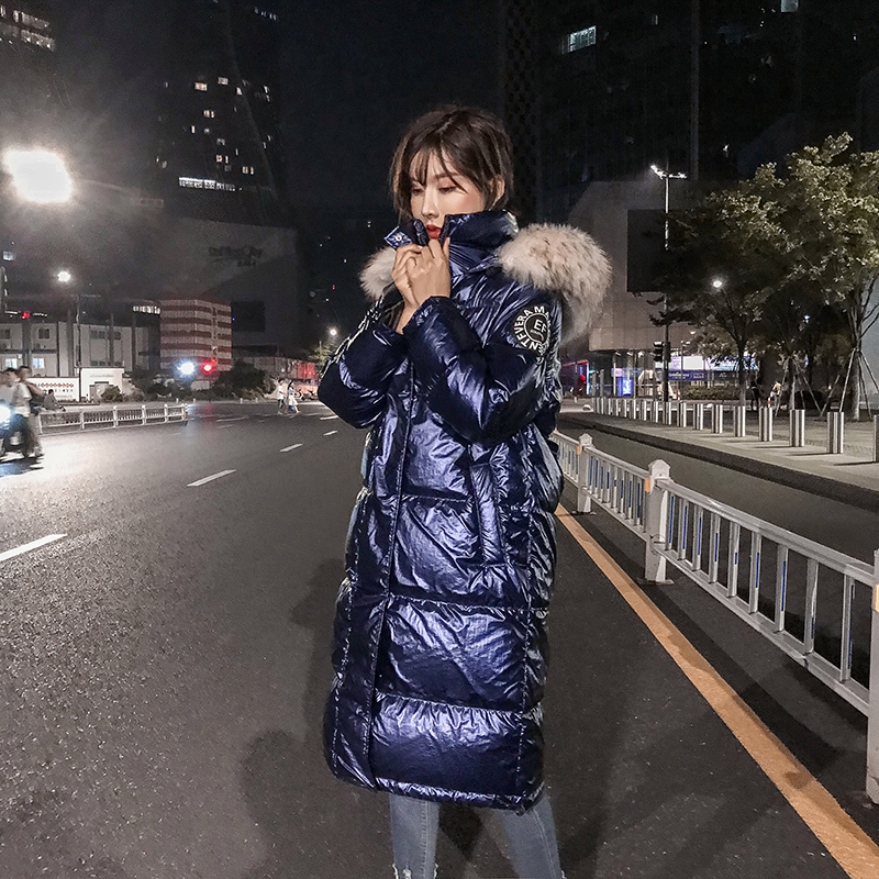 Winter Coat Women Korean White Duck Down Jacket Women Big Fur Collar Down Coat Puffer Jacket Warm Parka Abrigos YY1429