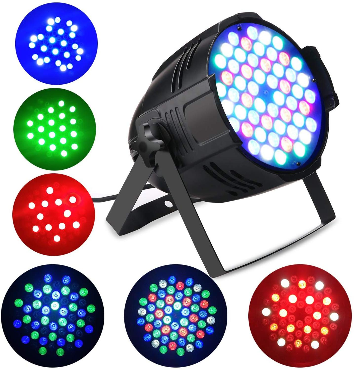 RGB Stage Light  54 LEDS Par Light Disco DJ Lighting Club LED Stage Light For Night Club Wedding Birthday Christmas Party Show