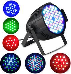 Światło sceniczne RGB 54 LEDS lampa par Disco oświetlenie dj klub oświetlenie sceniczne led na noc klub ślub urodziny Christmas Party Show|Oświetlenie sceniczne|   -
