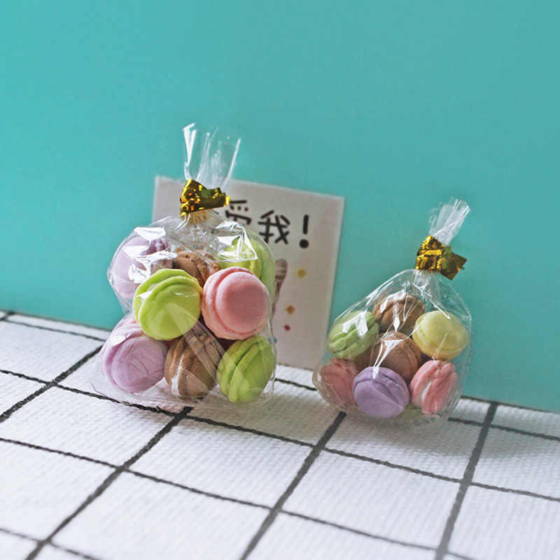 3 x 1bag//6Pcs 1//12 Miniature Dollhouse Macaron Kitchen Doll Dessert Accessori s//