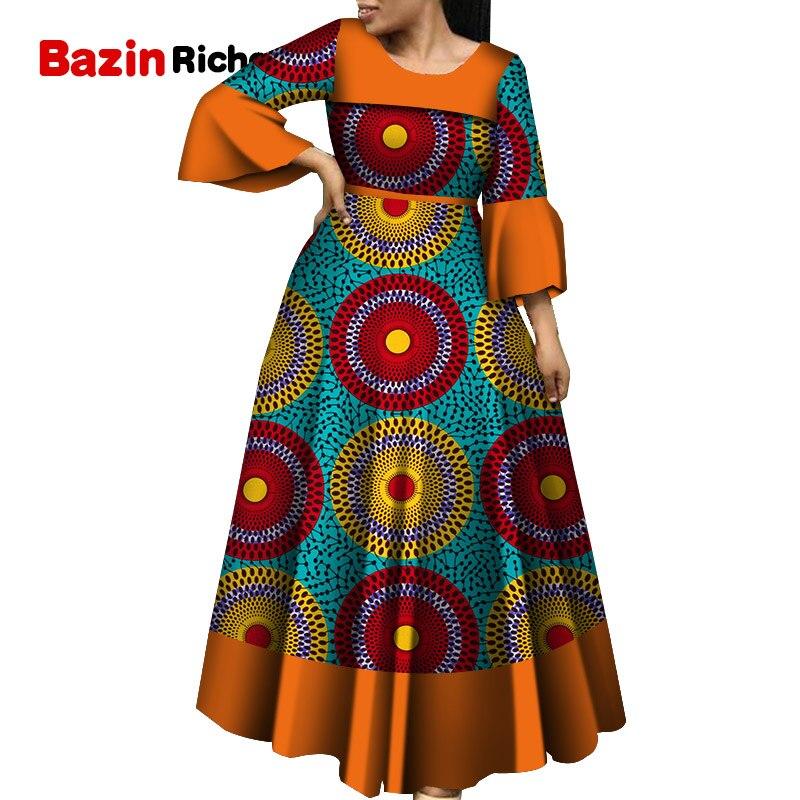 Женские вечерние платья с длинным рукавом и расклешенными рукавами для свадьбы, свидания, Дашики, африканская женская одежда 2020, женские платья в африканском стиле, WY5600|Африканская одежда|   | АлиЭкспресс