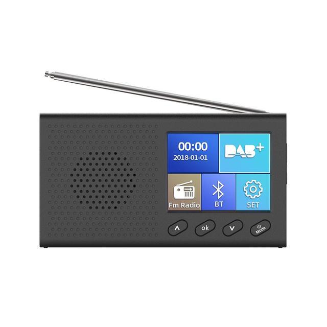 Dab receptor portátil rádio fm bluetooth 4.2 leitor de música 3.5mm saída estéreo