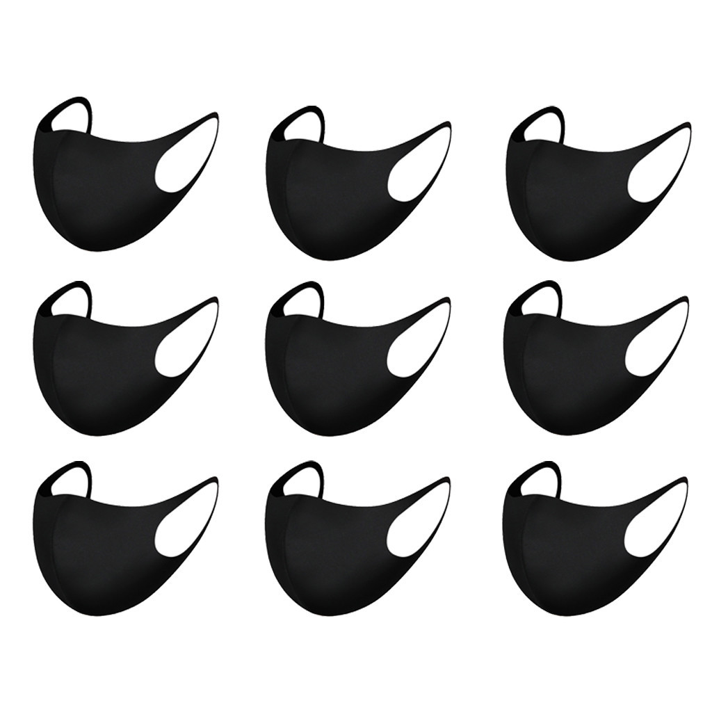 Respirator Washable-Mask Face-Breathing-Mask Cycling Black Fashion 9pcs Earloop Anti-Dust