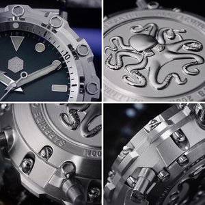 Image 4 - サンマーティン新 ufo モデリングタコオリジナルダイバーステンレス鋼メンズ機械式時計防水発光 relojes