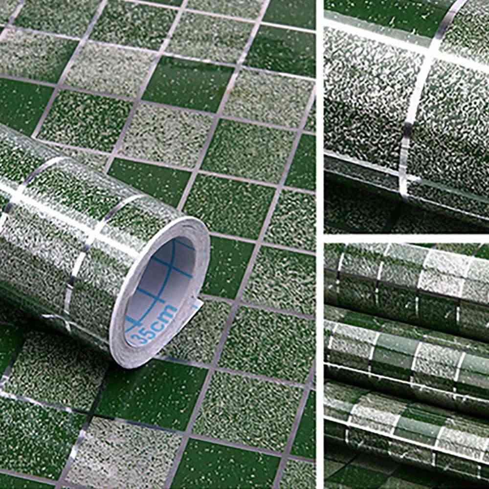 אמבטיה מטבח עמיד למים דביק משובץ קיר נייר עמיד למים לסכל מדבקות לעטוף אריחי קיר מדבקות חדש הגעה
