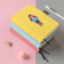 A6/A5 Hard Cover Cloth Diary Planner Notebooks And Journals Agenda 2019 Organizer Note Book For School Kawaii Stationery