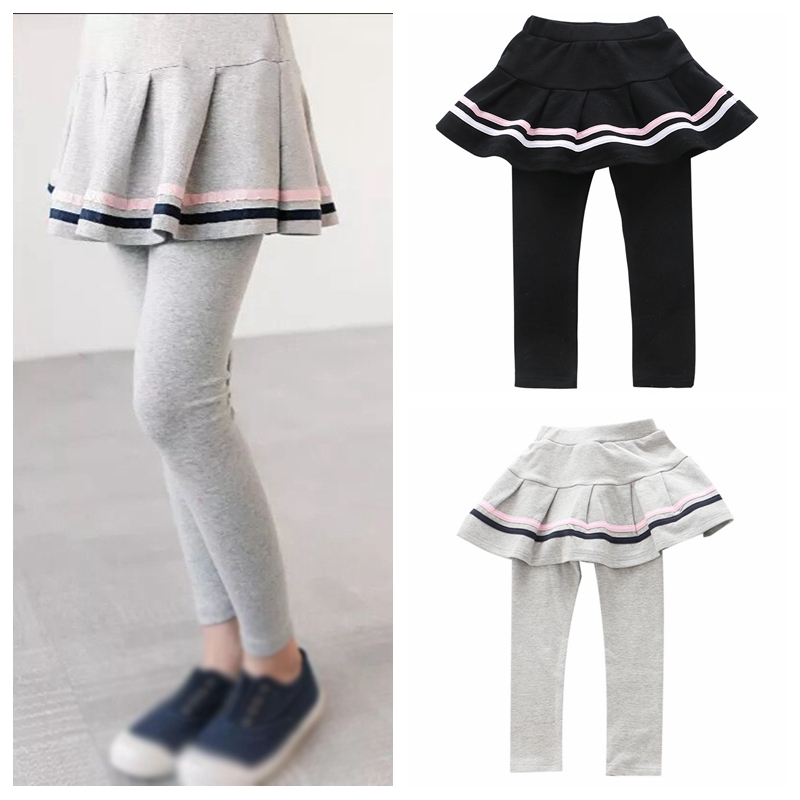 2019 Children Pants Culottes Render Pants Fashion Toddler Girl Skirt Trousers Spring/Fall Kids Girls Leggings Skinny Trousers 2-