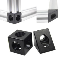 2020 Aluminum Block Cube Prism Connector Wheel Regulator Corner V-slot Three Way Connector 90 degree Angle