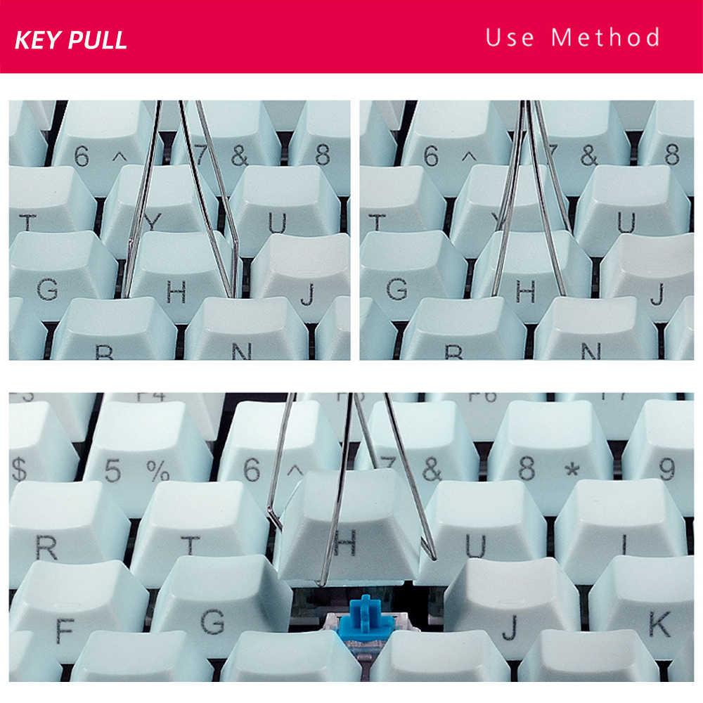 Съемник колпачка для клавиатуры универсальный инструмент для снятия колпачка для ключа s инструменты для фиксации клавиатуры для механической клавиатуры Черный 1 шт.