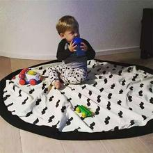 Portable Childrens Toy Storage Bag Play Mat Gym Carpet Puzzle Blanket Cloth For Children