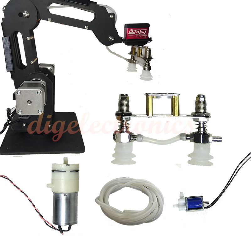 Mechanical Arm Vacuum Pump Suction Cup For MG996/MG995/DS3218 Robot Arm Accessories Robotic Manipulator Model DIY Kit
