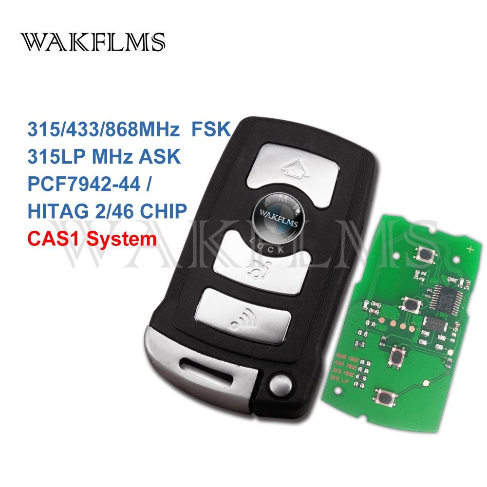 Умный пульт дистанционного управления с 4 кнопками, 315LP МГц 315 МГц 433 МГц 868 МГц для BMW 7 серии E65 E66 2002-2008 с чипом ID7942 7944, система CAS1