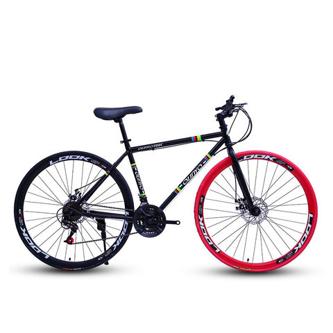Bicicleta dos Homens e para Mulheres Estrada de Corrida Freios a Disco Engrenagem Fixa Velocidade Faca Adulto Duplo Inflável Pneu Sólido 27 40