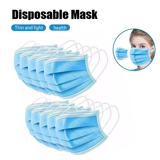 10pcs Dustproof Disposable Mouth Masks Earloop Face Mouth Nose Cover Masks Protection Anti Dust Flu Pollution 3