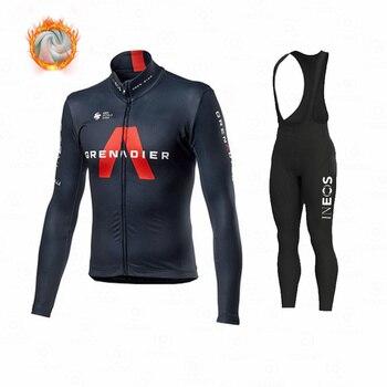 Ineos – vêtements de cyclisme en molleton thermique pour homme, tenue de Sport, d'équitation, vtt, collection hiver 2021 1