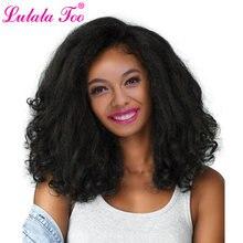 20 дюймов короткий прямой синтетический парик yaki для женщин