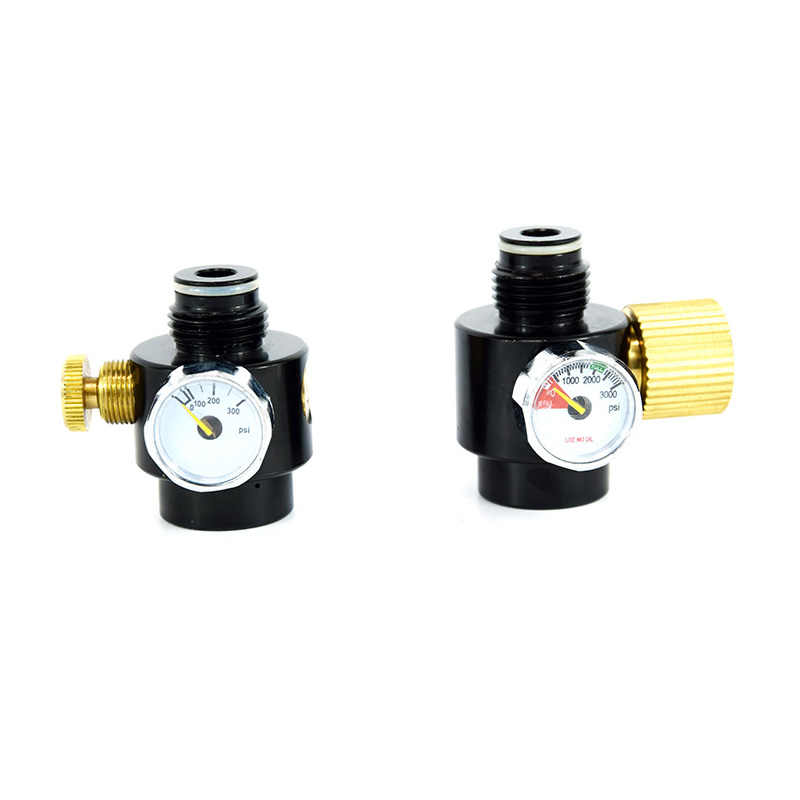 Regulador ajustable de Paintball PCP 300psi/3000psi, ajuste G1/2-14 macho hembra
