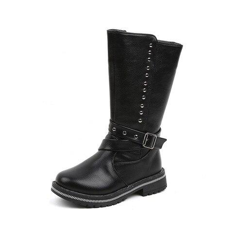novo rebite sapatos impermeaveis criancas outono preto botas criancas menina sapatos de inverno 2019 botas