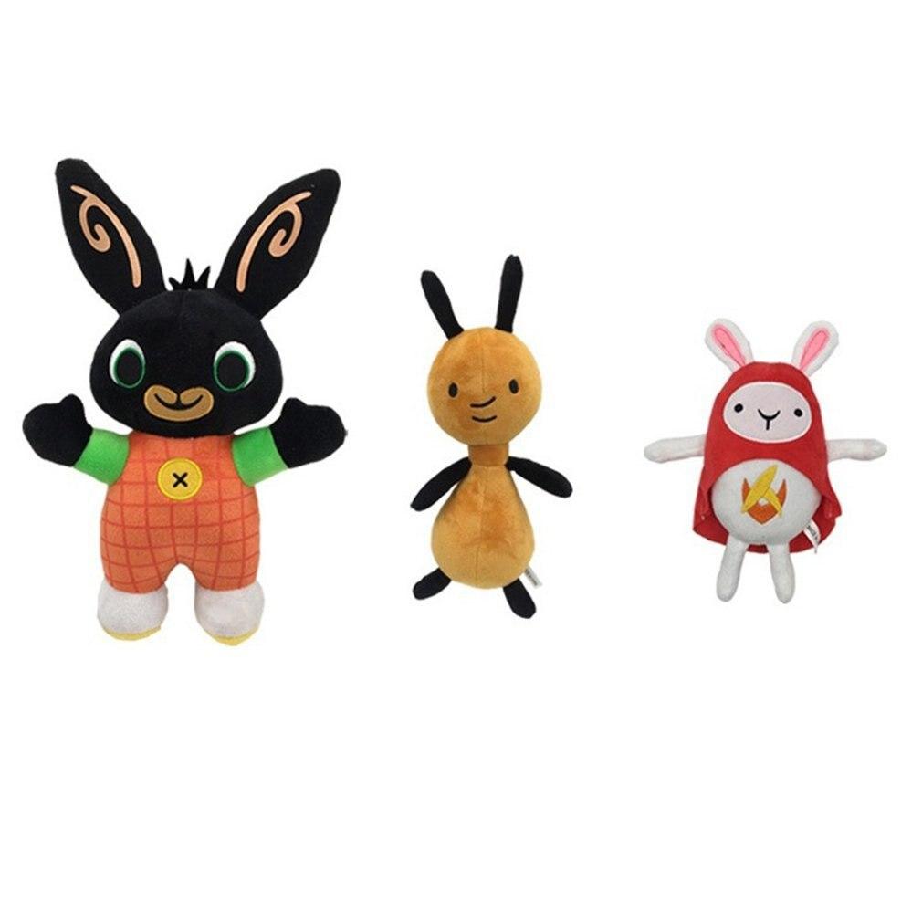 Bing Bunny BingBing Dolls Children's Dolls Short Fleece Rabbits Mini Bunny Multicolors Dolls With Suction Cups